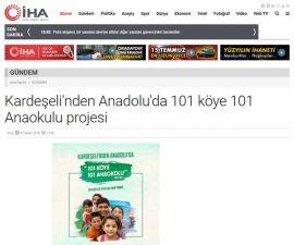 101 Köye 101 Anaokulu Projesi