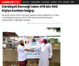 478 bin 500 Kurban Bağışı