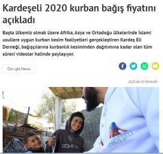 2020 Vacip Kurban Duyurusu
