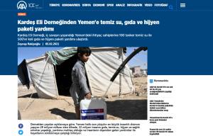 Kardeş Eli Derneğinden Yemen'e temiz su, gıda ve hijyen paketi yardımı