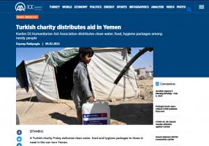 Turkish charity distributes aid in Yemen