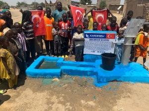 Çad'da Gara Şehitleri İçin Su Kuyusu Açıldı